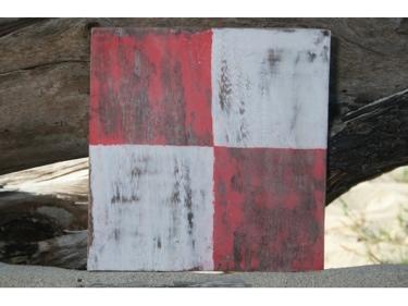 U Nautical Rustic Flag 8' X 8' Wood Panel Nautical Decor