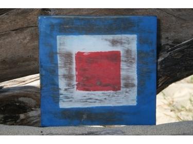 W Nautical Rustic Flag 8' X 8' Wood Panel Nautical Decor