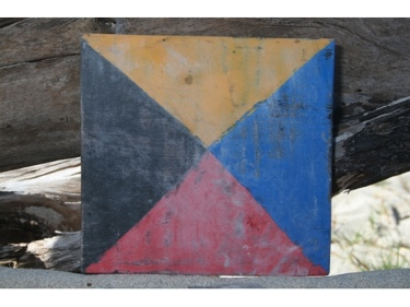 Z Nautical Rustic Flag 8' X 8' Wood Panel Nautical Decor