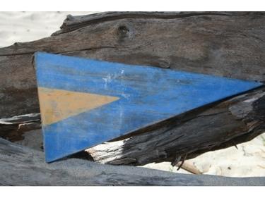 1St Nautical Numeric Flag 12 Wood Panel Nautical Decor