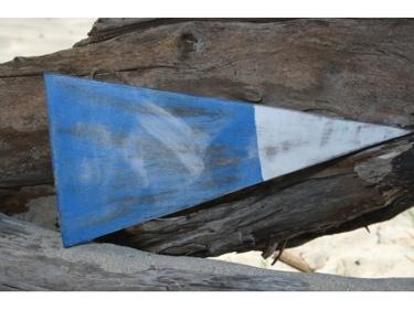 2Nd Nautical Numeric Flag 12 Wood Panel Nautical Decor