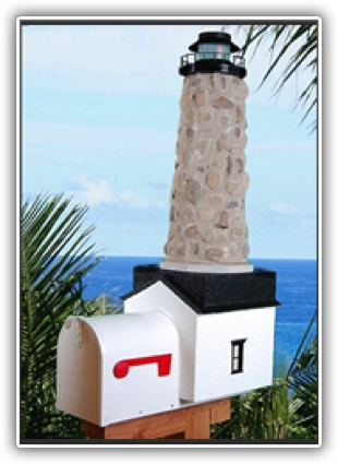 Stone Lighthouse Mailbox