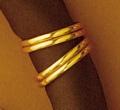 Gold Ring Scarf Slide z