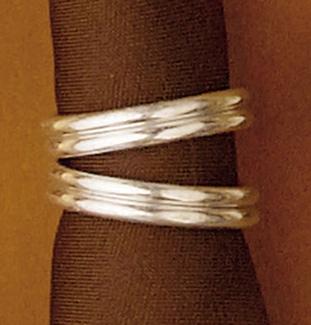Silver Ring Scarf Slide z