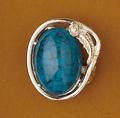 Scarf Slide Turquoise stone