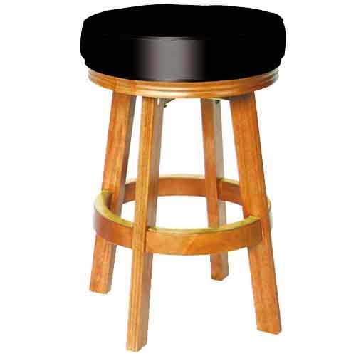 Sterling Padded Bar Stool Oak with Black Vinyl Billiard  : STBSOKlg from www.eastwave.com size 500 x 500 jpeg 29kB