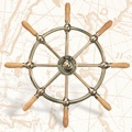 30 inch Brass Nautical Ship Wheel