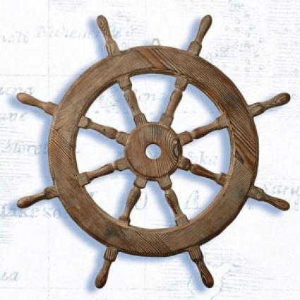 18 Inch Diameter Wooden Ship Wheel Nautical Ship Wheel