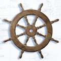 18 Inch Diameter Wooden Ship Wheel Nautical Ship Wheel