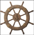 22.5 inch Light Antique Finish Nautical Ship Wheel