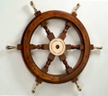 24 Inch with Brass Spokes Nautical Ship Wheel