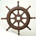 27 Inch Old World Antique Finish Nautical Ship Wheel