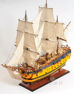 HMS Endeavour Painted OMH Handcrafted Model