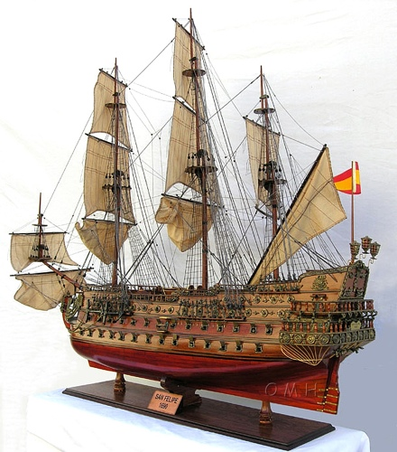 san felipe xl limited edition omh handcrafted model spanish ship models t190 from. Black Bedroom Furniture Sets. Home Design Ideas