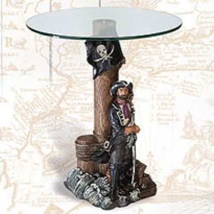 25 Inch Pirate Table Nautical Decor