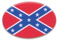 Trailer Hitch Cover - Rebel Flag 3 1/2 x 5