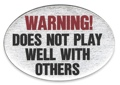 Trailer Hitch Cover - Warning! Does Not Play Well... 3 1/2 x 5