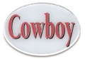 Trailer Hitch Cover - Cowboy 3 1/2 x 5