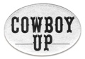 Trailer Hitch Cover - Cowboy Up 3 1/2 x 5