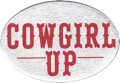 Trailer Hitch Cover - Cowgirl Up! 3 1/2 x 5