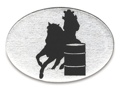 Trailer Hitch Cover - Barrel Racer Silhouette 3 1/2 x 5
