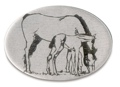 Trailer Hitch Cover - Horse with Colt