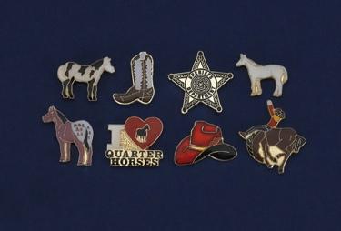 Rodeo Tie Tack Assortment 24 pcs