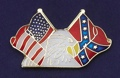 Tie Tack/Eagle with USA & Rebel Flags see pb