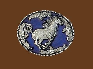 Running Horse Belt Buckle 3 x 2-1/2