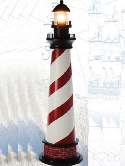 42 Inch Mini Cape Hatters With Light Red Stripes Lighthouse Decor
