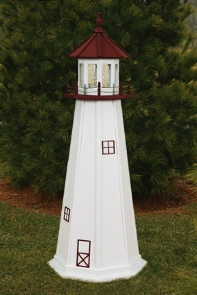 6 Foot Wooden Marblehead Painted Wooden Lighthouse