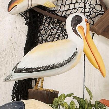 18 Inch Wooden Bird on Post