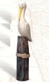 27.5 Inch Wooden Pelican on Post