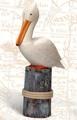 19 Inch Wooden Pelican on Post