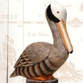 19 Inch ooden Pelican on Post