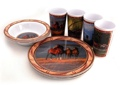 Wild Wings 12 pc Melamine Tableware - Horses