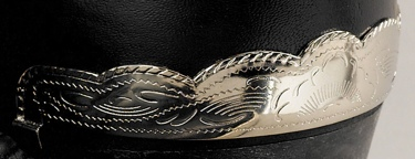 Heel Guard Scalloped Silver