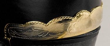 Heel Guard Scalloped Brass