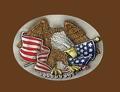 Eagle & USA Flag Belt Buckle 3 x 2-1/2