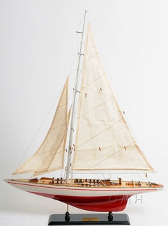 Endeavour Yacht Painted 24 OMH Handcrafted Model