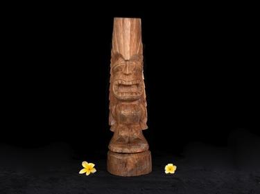 Carved Tiki Totem 26 Love Tiki Acacia Wood Tropical Decor