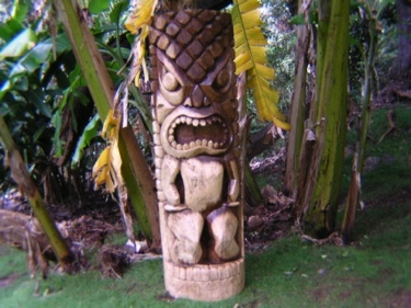 Tiki Kanaloa 51 Ocean Fishing Tiki Garden Decor